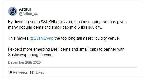 SushiSwap 推出新流动性激励计划,能否创造长尾繁荣?插图5