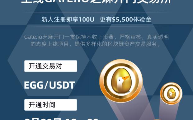 Gate.io 芝麻开门将上线 Goose Finance (EGG) 交易的公告