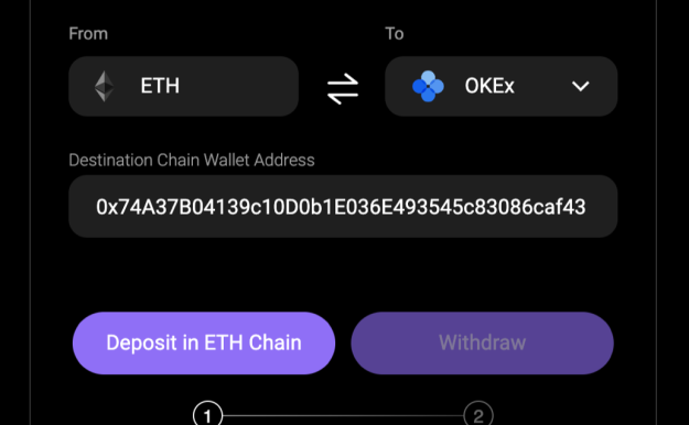 如何实现Eth与okex的交叉链
