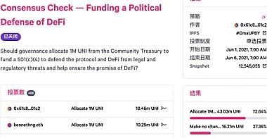 争议|DEFI教育基金出售Uniswap财库拨款引发社区震怒
