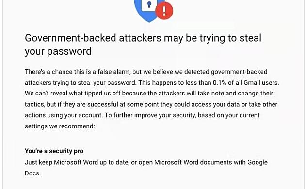 观察|谷歌称14000名Gmail用户遭受APT攻击